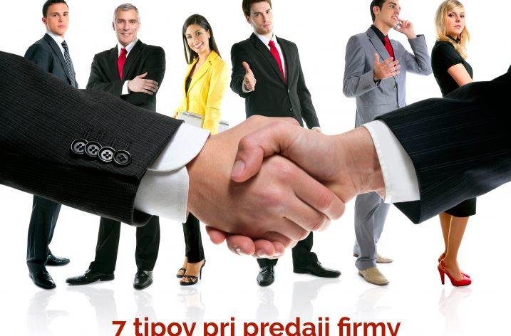 7 tipov pri predaji firmy